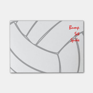 Bump Set Spike Player Volleyball Cells Post-it® Notes
