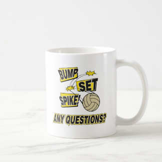 Bump Set Spike Volleyball Gift Basic White Mug