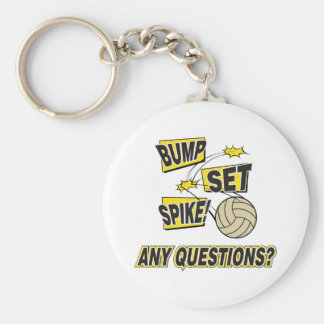 Bump Set Spike Volleyball Gift Key Ring