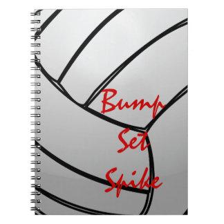Bump Set Spike Volleyball Spiral Note Book
