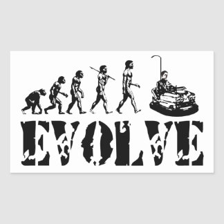 Bumper Cars Dodgem Fun Sport Evolution Art Rectangular Sticker
