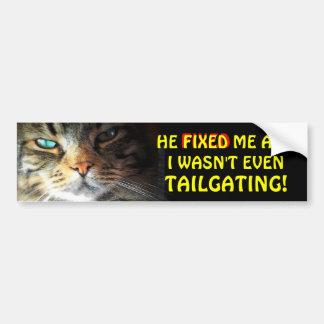 Bumper Cat: Gets Fixed Meme Bumper Sticker