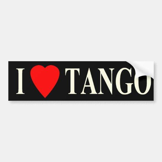 bumper i heart tango dark bumper sticker