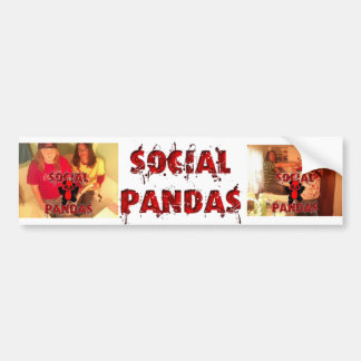 Bumper Panda Bumper Sticker