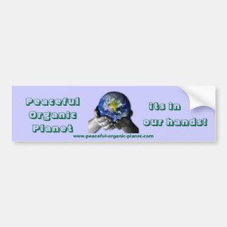 Bumper Sicker - Peaceful Organic Planet Bumper Sticker