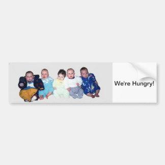 Bumper Sticker - 5 Babies in a Row
