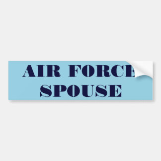 Bumper Sticker Air Force Spouse