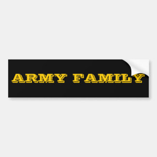 Bumper Sticker Army Family Car Bumper Sticker