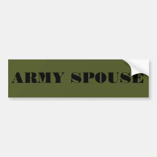 Bumper Sticker Army Spouse