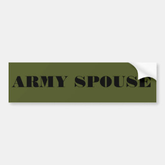 Bumper Sticker Army Spouse Car Bumper Sticker