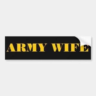 Bumper Sticker Army Wife