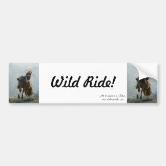 """Bumper Sticker, Bronc Buster, """"Wild Ride!"""" Bumper Sticker"""