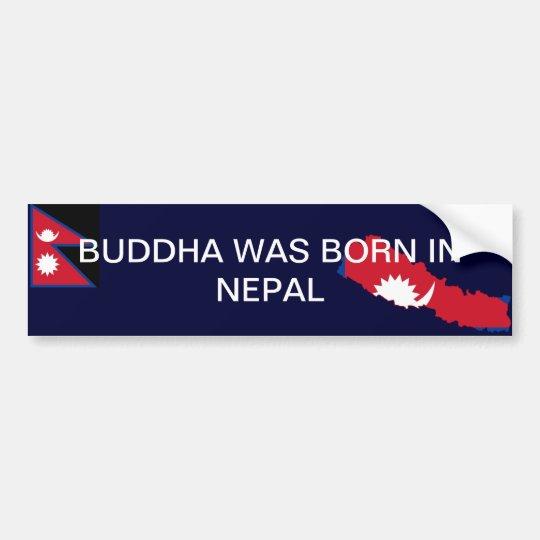 Bumper Sticker Buddha was bon in Nepal