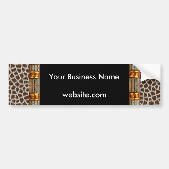 Bumper Sticker Business Animal Print Black White
