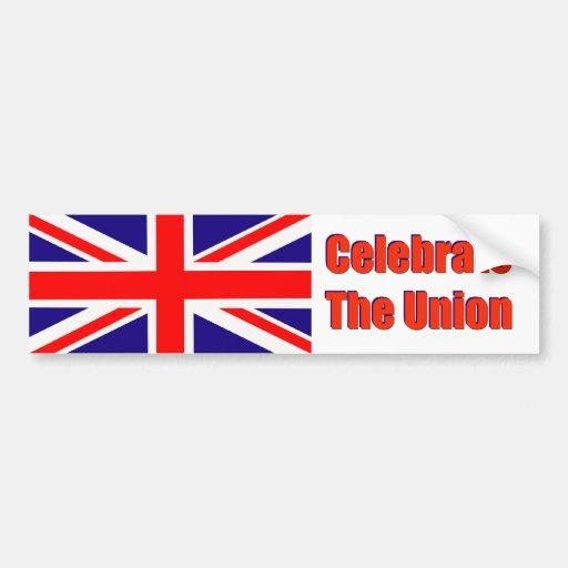 Bumper Sticker Celebrate the Union