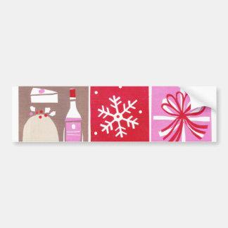 Bumper sticker Christmas decoration