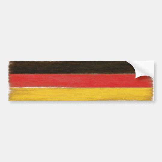 Bumper Sticker Cool Distressed German Flag