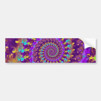 Bumper Sticker - Crazy Fractal Purple terquoise