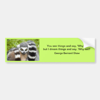 Bumper Sticker - Cute Lemur Stripey Tail
