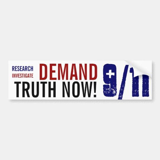 Bumper Sticker DEMAND 9/11 TRUTH NOW!