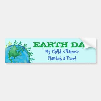 BUMPER STICKER Earth Day My Child Planted a Tree! Car Bumper Sticker