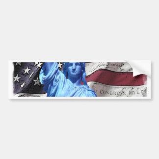 Bumper Sticker Flag & Statue of Liberty