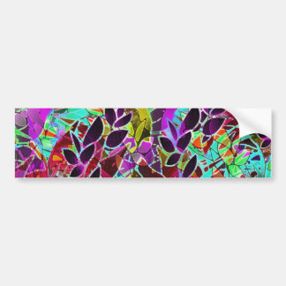 Bumper Sticker Floral Abstract Artwork
