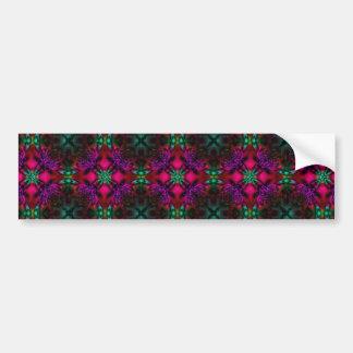 Bumper Sticker - Fractal Pattern pink green purple