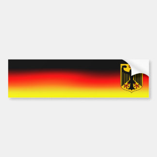 Bumper Sticker German flag colours and coat of arm
