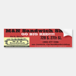 "Bumper Sticker (""Go Big Red"") - M&N Sandwich Shop"