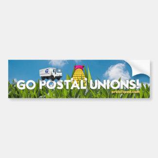 Bumper Sticker - Go Postal Unions!