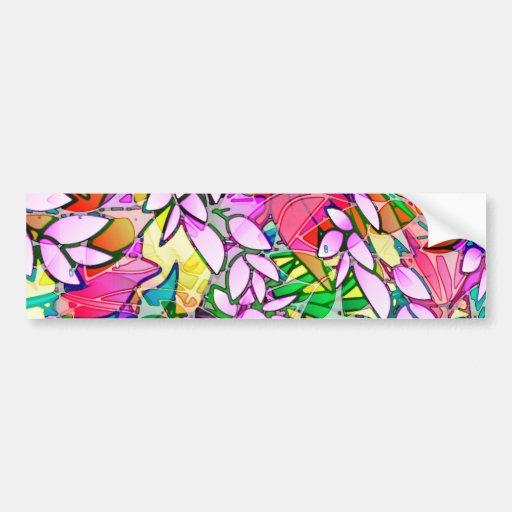 Bumper Sticker Grunge Art Floral Abstract