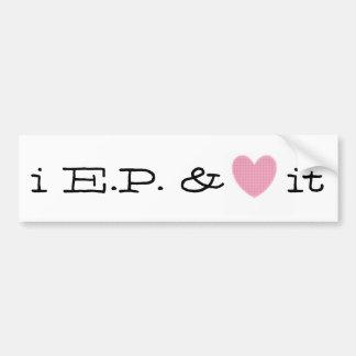 Bumper Sticker - i E.P. & (heart) it