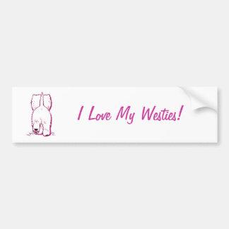 Bumper sticker - I love my Westies!