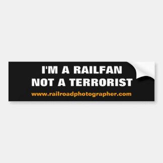 Bumper Sticker - I'm a Railfan