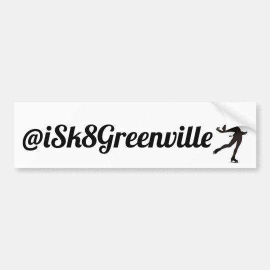 Bumper Sticker iSk8Greenville