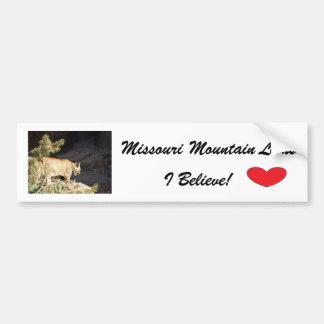 Bumper Sticker--Missouri Mountain Lions Car Bumper Sticker