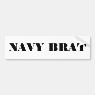 Bumper Sticker Navy Brat