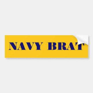 Bumper Sticker Navy Brat Car Bumper Sticker