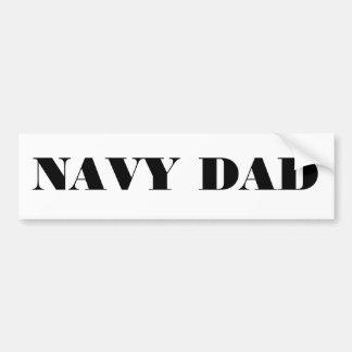 Bumper Sticker Navy Dad Car Bumper Sticker