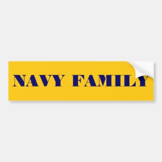 Bumper Sticker Navy Family Car Bumper Sticker