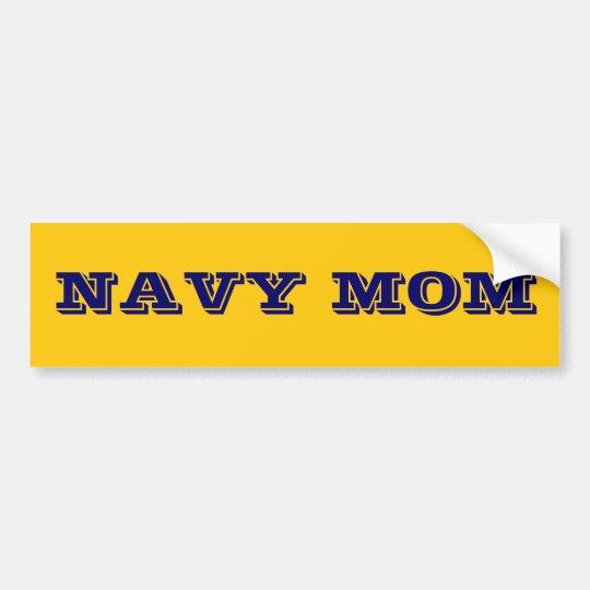 Bumper Sticker Navy Mum