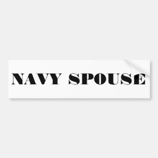 Bumper Sticker Navy Spouse