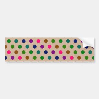 Bumper Sticker Polka Dots