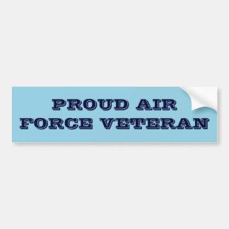 Bumper Sticker Proud Air Force Veteran