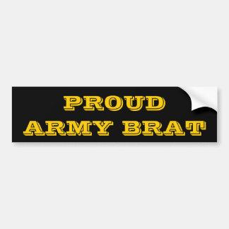 Bumper Sticker Proud Army Brat