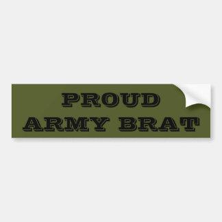 Bumper Sticker Proud Army Brat Car Bumper Sticker