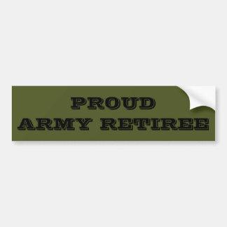 Bumper Sticker Proud Army Retiree