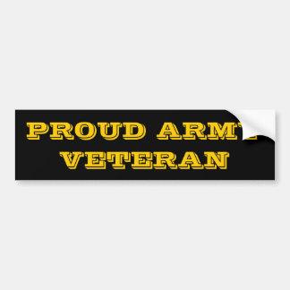 Bumper Sticker Proud Army Veteran