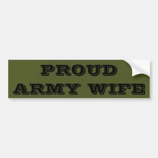 Bumper Sticker Proud Army Wife Car Bumper Sticker